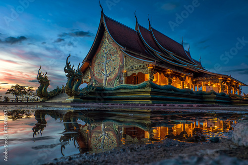Foto Wat Sirintornwararam the temple in Ubon Ratchathani Province, Thailand