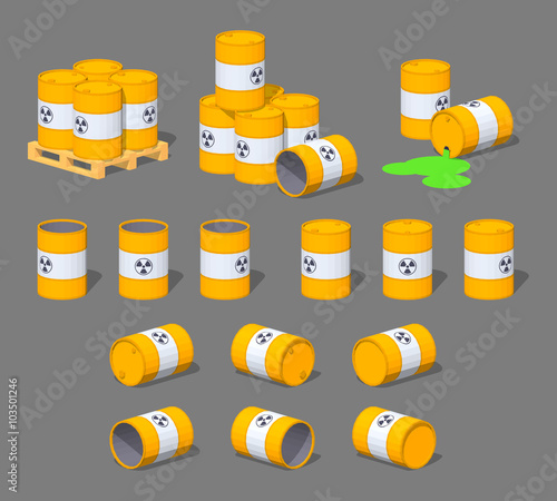 Metal barrels with the nuclear waste Canvas-taulu