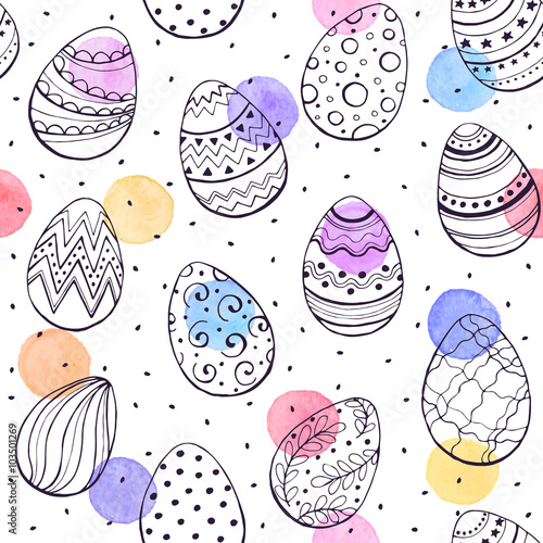 easter-background-with-eggs-hand-drawn-black-on-white