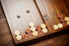 Color Detail Of A Backgammon G...