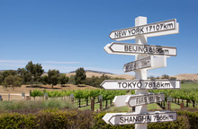 Direction Sign Post From Austr...