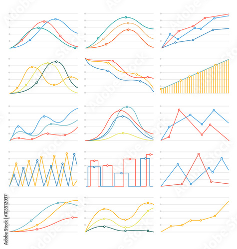 Fotografía flat linear graph&chart