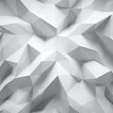 Fototapeta Perspektywa 3d - Photo of highly detailed white polygon. White geometric rumpled triangular low poly style. Abstract gradient graphic background. Square. 3d render