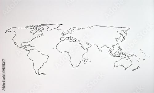 Tuinposter Wereldkaart The world map