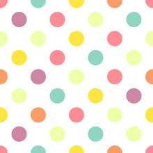 Polka Dot Colors Pattern