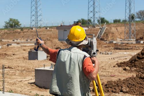 Fotografie, Obraz  Construction site. Land surveying.
