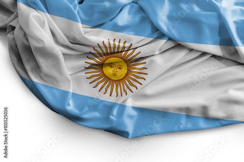 Fotografie, Tablou  Argentine flag on white background