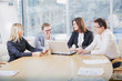 Businesspeople arguing in meeting
