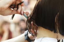 Stylist Hairdresser Doing Hair...