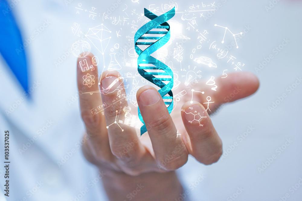 Fototapeta mano, braccio, dna, scienza, biologia