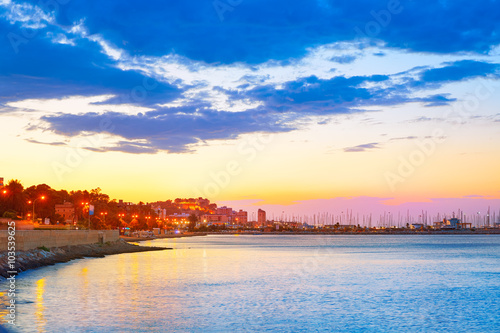 Photo  Denia sunset las Rotas in Mediterranean Spain