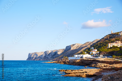 Photo  Denia Las Rotas beach in Mediterranean Spain