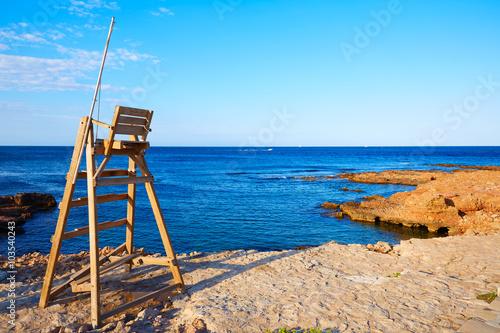 Denia Las Rotas beach in Mediterranean Spain Poster