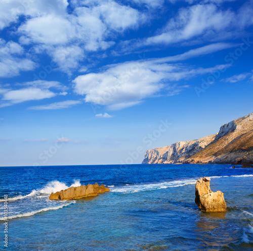 Las Rotas beach in Denia Alicante Poster