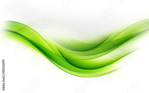 Staande foto Fractal waves Awesome Art Abstract Green Wave Design