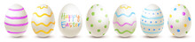 Row Of Painted Easter Eggs - H...