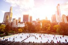 Ice Skaters Having Fun In New ...