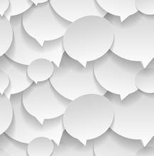 Speech Bubbles. Seamless Pattern.