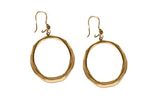Gold Earrings Isolated
