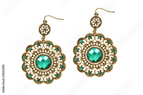 Tablou Canvas Gold earrings
