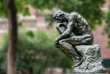 Thinker Copper Statue At Unive...