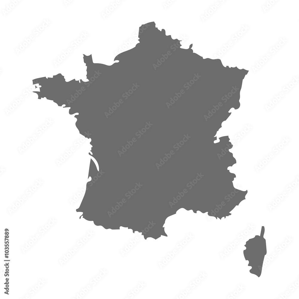 Fototapeta France map