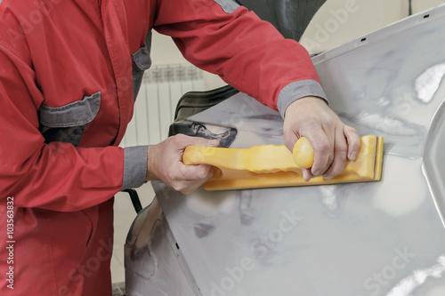 Fotografie, Obraz  car repair