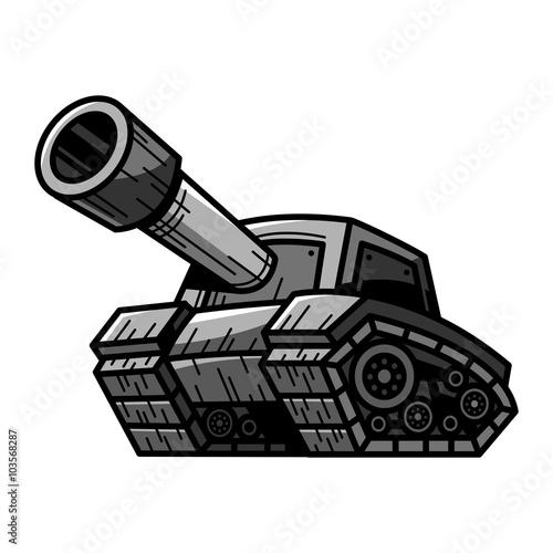 Photo  Cartoon Army Tank