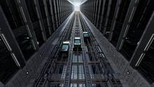 An Open Elevator Shaft At The Business Center