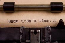 Typed Words On A Vintage Typew...