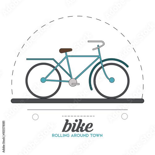 Staande foto Fiets Bike lifestyle design