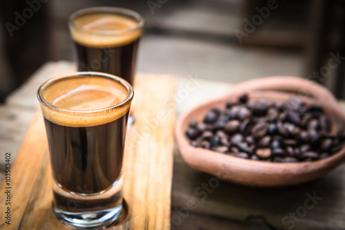 Fotografia  Double shot Espresso Coffee