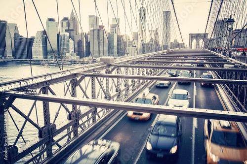 Brooklyn Bridge, Manhattan New York. Urban living concept