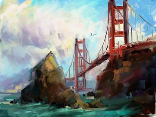 Panel Szklany Marynistyczny Bridge