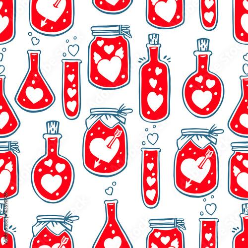 Materiał do szycia bezszwowe butelki z serca