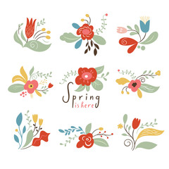 Floral Set, Spring Illustrations