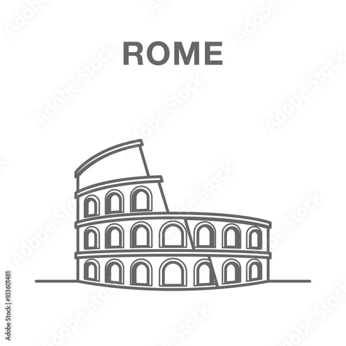Photo  Colosseum building in Rome, Italy