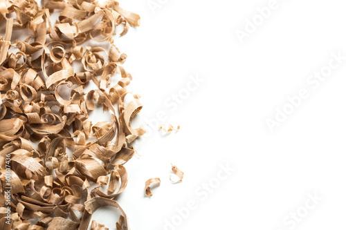 Fotografie, Obraz  Wood shavings background
