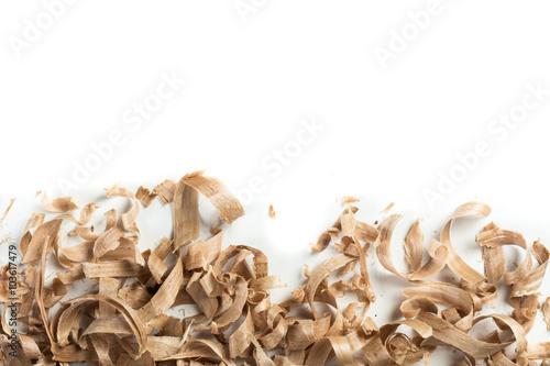 Fotografie, Obraz  Wood shavings background