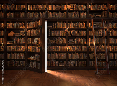 Photographie  Secret door in the bookcase