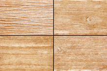 Old Yellow Brown Wood For Background Texture - 4 Style