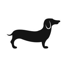 German Shepherd Icon, Simple S...