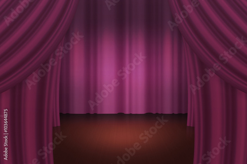 Dark Curtain Stage Backdrop - Buy this stock illustration