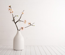 Vase With Cherry Blossom