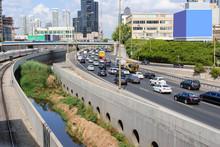 Ayalon Highway In Tel Aviv, Israel