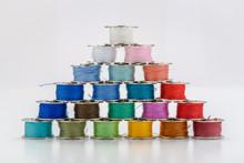 Colorful Bobbin Pins Pyramid