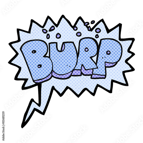 Fotografia, Obraz  comic book speech bubble cartoon burp text