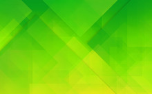 Abstract Green Polygonal Backg...