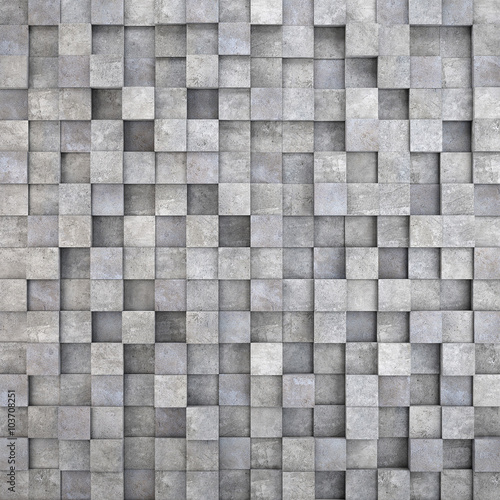plakat wall of concrete cubes