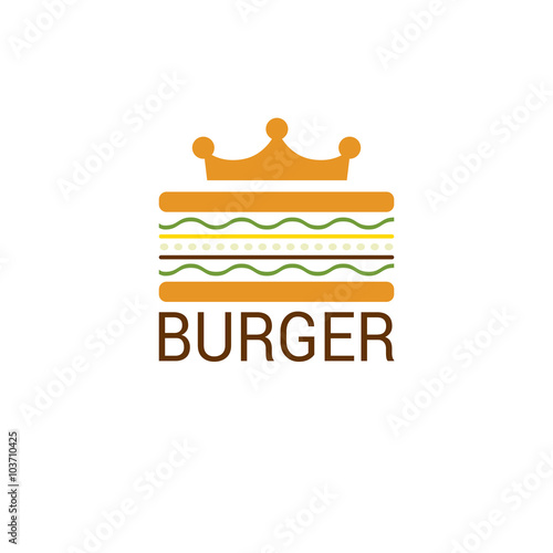 Burger king shop icon logo design